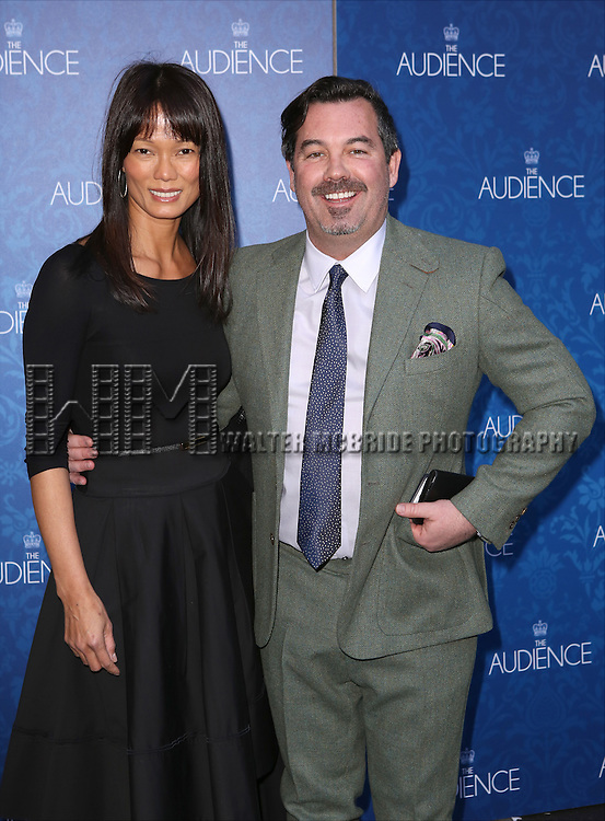 Duncan Sheik and guest attends the Broadway Opening Night Performance of 'The Audience' at The Gerald Schoendeld Theatre on March 8, 2015 in New York City.