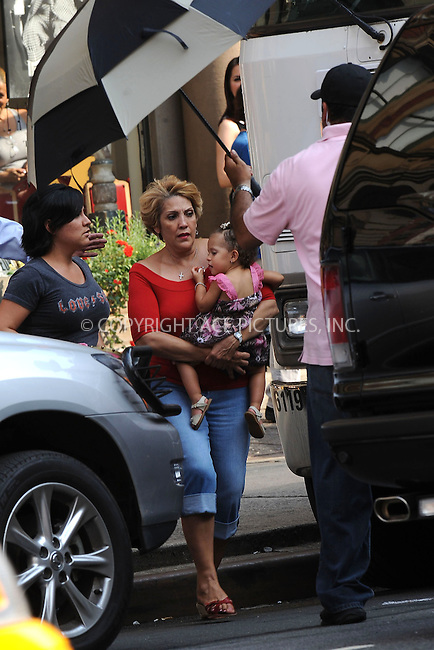 "WWW.ACEPIXS.COM . . . . . ....July 16 2009, New York City....Mother of actress Jennifer Lopez, Guadalupe Lopez carries granddaughter Emme on the set of the new movie ""The Back-Up Plan"" in Downtown Manhattan on July 16, 2009 in New York City.....Please byline: KRISTIN CALLAHAN - ACEPIXS.COM.. . . . . . ..Ace Pictures, Inc:  ..tel: (212) 243 8787 or (646) 769 0430..e-mail: info@acepixs.com..web: http://www.acepixs.com"