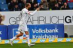 18.01.2020, PreZero-Arena, Sinsheim, GER, 1. FBL, TSG 1899 Hoffenheim vs. Eintracht Frankfurt, <br /> <br /> DFL REGULATIONS PROHIBIT ANY USE OF PHOTOGRAPHS AS IMAGE SEQUENCES AND/OR QUASI-VIDEO.<br /> <br /> im Bild: Bas Dost (Eintracht Frankfurt #9) jubelt ueber sein Tor zum 0:1<br /> <br /> Foto © nordphoto / Fabisch