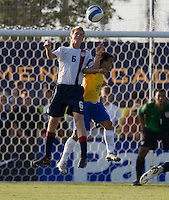 USA's Jared Watts (6) and Brazil's Wellington (10). 2007 Nike Friendlies, which are taking place from Dec. 6-9 at IMG Academies in Bradenton, Fla.