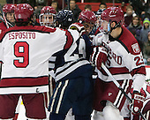 - The visiting Yale University Bulldogs defeated the Harvard University Crimson 2-1 (EN) on Saturday, November 15, 2014, at Bright-Landry Hockey Center in Cambridge, Massachusetts.