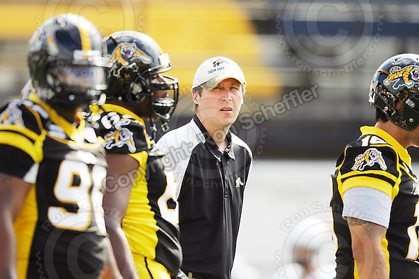 Sep 6, 2008; Hamilton, ON, CAN; Hamilton Tiger-Cats defensive line coach John Kropke. CFL football - BC Lions defeated the Hamilton Tiger-Cats 35-12 at Ivor Wynne Stadium. Mandatory Credit: Ron Scheffler-www.ronscheffler.com. Copyright (c) Ron Scheffler
