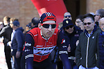 Bauke Mollema (NED) Trek-Segafredo at sign on in Fortezza Medicea before the start of Strade Bianche 2019 running 184km from Siena to Siena, held over the white gravel roads of Tuscany, Italy. 9th March 2019.<br /> Picture: Eoin Clarke | Cyclefile<br /> <br /> <br /> All photos usage must carry mandatory copyright credit (© Cyclefile | Eoin Clarke)