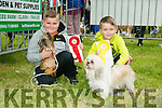 l-r  Nicholas Ligus with his dog Raspberry and Alan Langa with his dog Tosia at the Feile na Blath Dog Show in the Town park on Saturday