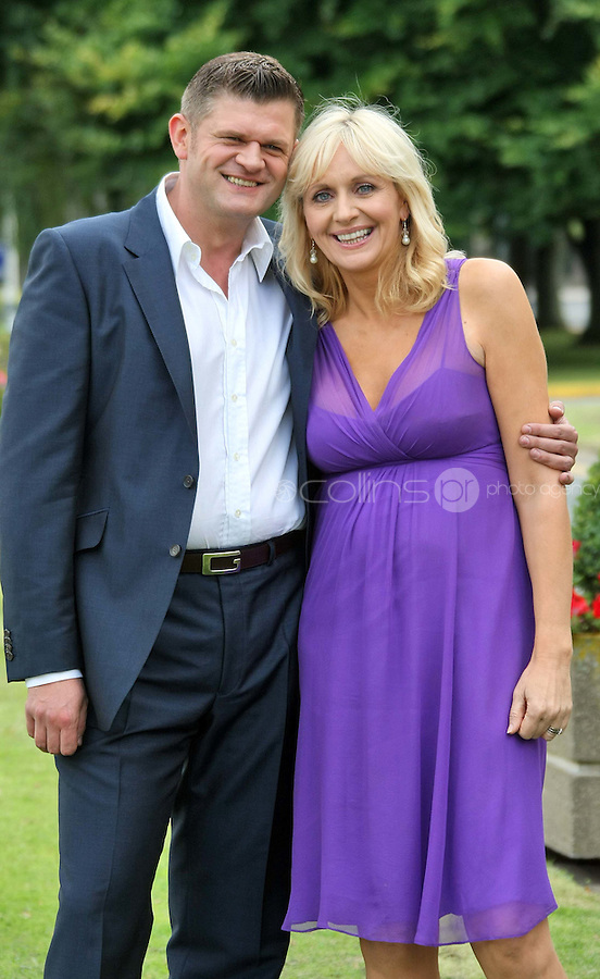 05/08/'10  Brendan O'Connor and Miriam O'Callaghan pictured  at the launch of RTE's new season winter schedule at Montrose this afternoon...Picture Colin Keegan, Collins, Dublin.