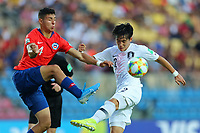 2nd November 2019; Kleber Andrade Stadium, Cariacica, Espirito Santo, Brazil; FIFA U-17 World Cup Brazil 2019, Chile versus Korea Republic; Cesar Perez of Chile and Lee Taeseok of Korea Republic