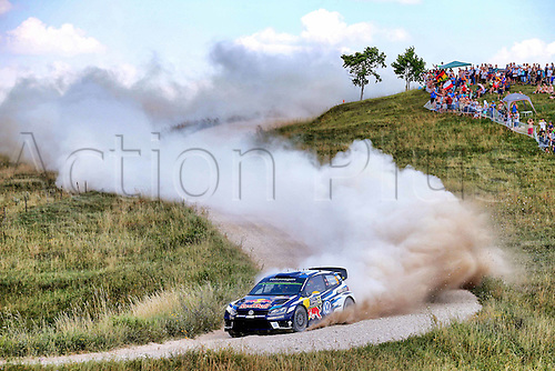 02.07.2016. Mikolajki, Poland. WRC Rally of Poland, stages 12-17.  Andreas Mikkelsen (NOR) – Anders Jaeger (NOR) - Volkswagen Polo R WRC