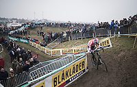 Mathieu Van der Poel (NED/Beobank-Corendon) leading the way<br /> <br /> elite men's race<br /> CX Superprestige Noordzeecross <br /> Middelkerke / Belgium 2017