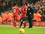 Mario Balotelli replaces Daniel Sturridge of Liverpool - Liverpool vs. Tottenham Hotspurs - Barclay's Premier League - Anfield - Liverpool - 10/02/2015 Pic Philip Oldham/Sportimage