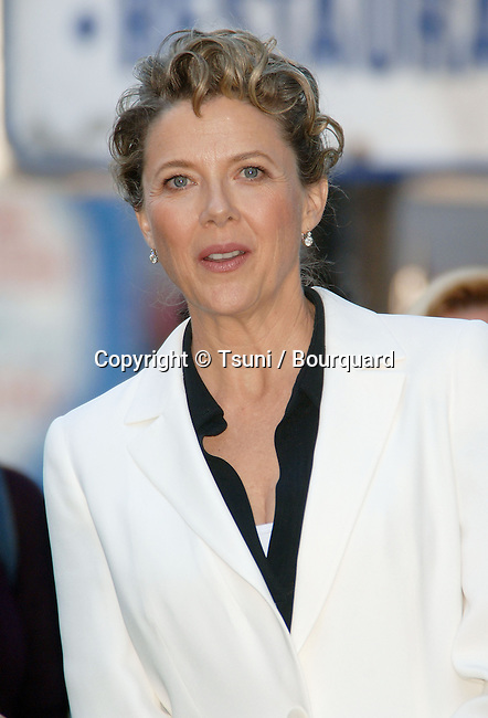 Annette Bening received a star on the Hollywood Walk in front of the Chinese Theatre in Los Angeles.<br /> <br /> headshot