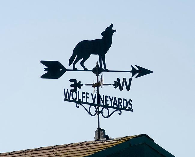 Weathervane at Wolff Vineyards near San Luis Obispo, California