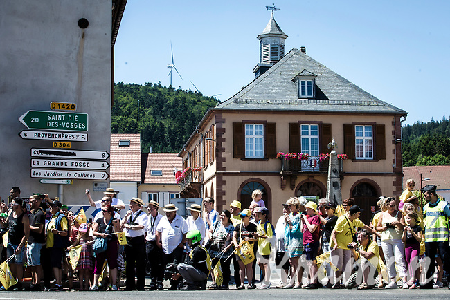roadside fans <br /> <br /> Stage 5: Saint-Dié-des-Vosges to Colmar (175km)<br /> 106th Tour de France 2019 (2.UWT)<br /> <br /> ©kramon