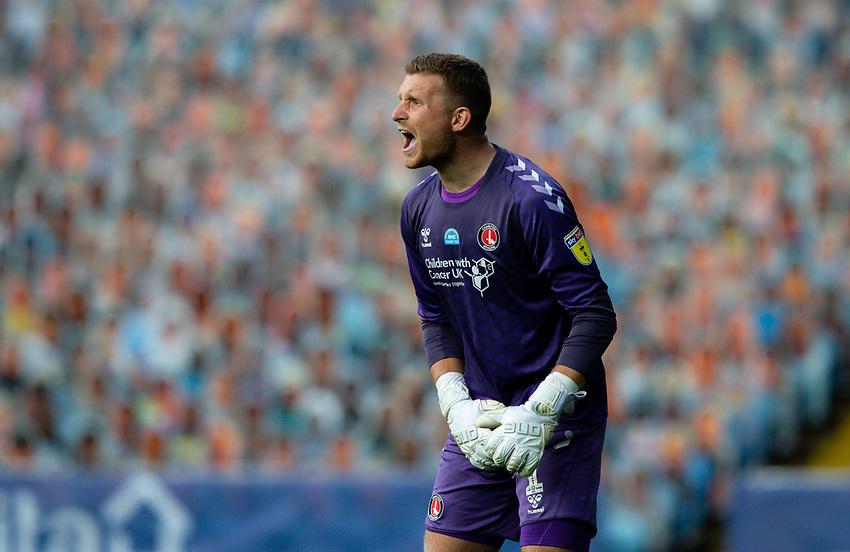 Charlton Athletic's Dillon Phillips reacts<br /> <br /> Photographer Alex Dodd/CameraSport<br /> <br /> The EFL Sky Bet Championship - Leeds United v Charlton Athletic - Wednesday July 22nd 2020 - Elland Road - Leeds <br /> <br /> World Copyright © 2020 CameraSport. All rights reserved. 43 Linden Ave. Countesthorpe. Leicester. England. LE8 5PG - Tel: +44 (0) 116 277 4147 - admin@camerasport.com - www.camerasport.com