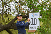 Kevin Na (USA) watches his tee shot on 10 during day 4 of the WGC Dell Match Play, at the Austin Country Club, Austin, Texas, USA. 3/30/2019.<br /> Picture: Golffile | Ken Murray<br /> <br /> <br /> All photo usage must carry mandatory copyright credit (© Golffile | Ken Murray)