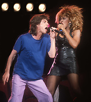 Mick Jagger Tina Turner 1986<br /> Photo By John Barrett/PHOTOlink.net /MediaPunch
