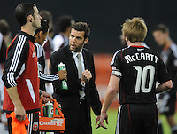 DC United Head Coach Ben Olsen gives instructions to midfielder Andy Najar (14)    DC United tied The Colorado Rapids 1-1, at RFK Stadium, Saturday  May 14, 2011.