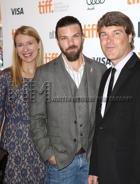 "Melissa Coolidge, Brad Coolidge and Todd J. Labarowski during the 2013 Tiff Film Festival Gala Red Carpet Premiere for ""The Disappearance of Eleanor Rigby""  at the Elgin Theatre  on September 9, 2013 in Toronto, Canada."