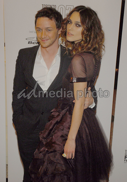 10 September 2007 - Toronto, Ontario - James McAvoy and Keira Knightley. 'Atonement' North American Premiere Screening during the Toronto International Film Festival 2007 held at Elgin Theatre. Photo Credit: Brent Perniac/AdMedia
