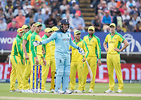 Jason Roy (England) questions the decision to give him out during Australia vs England, ICC World Cup Semi-Final Cricket at Edgbaston Stadium on 11th July 2019