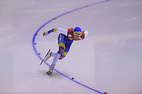 SPEEDSKATING: CALGARY: 14-11-2015, Olympic Oval, ISU World Cup, 1000m B-division, Pedro Causil (COL), ©foto Martin de Jong