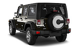 Car pictures of rear three quarter view of 2016 JEEP Wrangler-Unlimited Rubicon 5 Door SUV Angular Rear