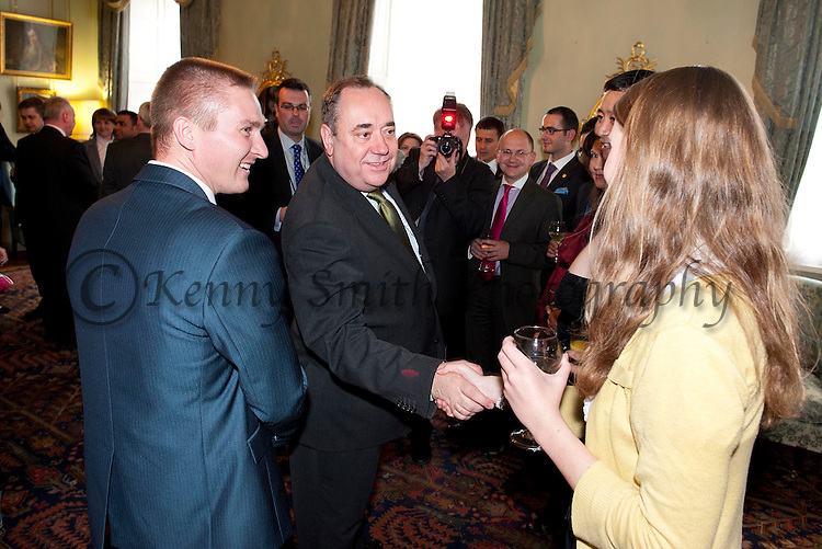 John Smith Fellows visit to Bute House with First Minister Alex Salmond and Alex Neil, Cabinet Secretary for Infrastructure and Capital Investment.Pic Kenny Smith, Kenny Smith Photography.6 Bluebell Grove, Kelty, Fife, KY4 0GX .Tel 07809 450119,