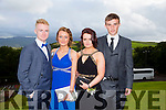 Enjoying a great time at the Milltown Presentation Debs at Ballyroe Heights Hotel on Tuesday were  Cormac Leen, Bethanie Bradley, Orla Courtney and Finán Walsh