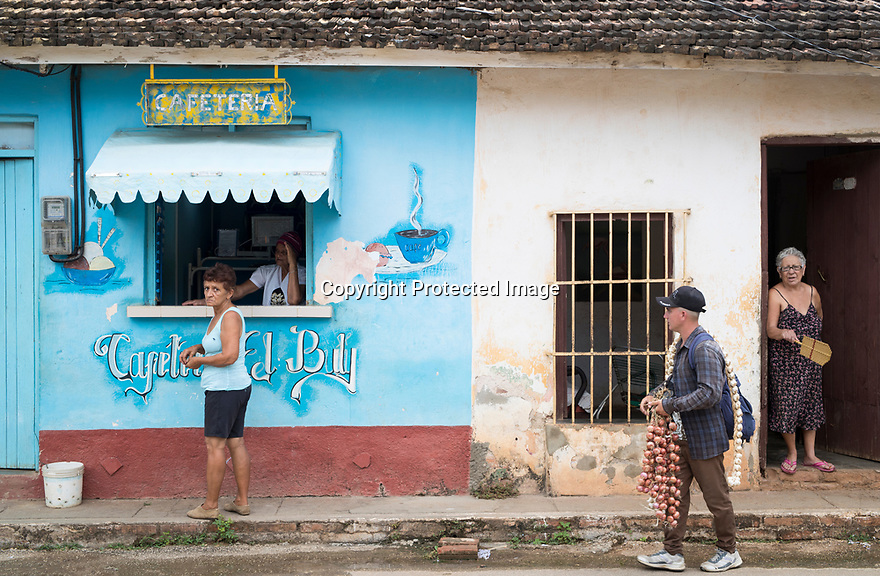 27/07/18<br /> <br /> Coffee shop, Trinidad, Cuba.<br /> <br /> All Rights Reserved, F Stop Press Ltd. (0)1335 344240 +44 (0)7765 242650  www.fstoppress.com rod@fstoppress.com