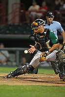 Erie Seawolves Catcher Andy Bouchie (19) during a game vs. the Trenton Thunder at Jerry Uht Park in Erie, Pennsylvania;  June 23, 2010.   Trenton defeated Erie 12-7  Photo By Mike Janes/Four Seam Images