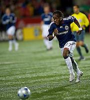 22 April 2009: Chivas USA midfielder Chukwudi Chijindu #77 in action at BMO Field in a MLS game between Chivas USA and Toronto FC.Toronto FC won 1-0. .