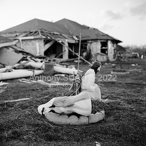 New Orleans, Louisianna.USA.December 1, 2005 ..Hurricane Katrina damage and recovery at St. Bernard's Parish.