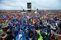 Silent minute at the Opening ceremony at the World Scout Jamboree. Photo: Magnus Fröderberg/Scouterna