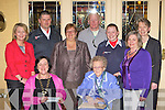 DONATIONS: Killarney Soroptimist President Anne Lucey presents donations to various charities in the Killarney Royal Hotel on Tuesday evening. Pictured l-r: Anne Lucey and Sheila O'Donoghue. Back l-r: Vera O'Leary (Rape and Sexual Abuse Centre), Sean Farrell (Order of Malta), Cllr: Sheila Casey (Killarney Soroptimists), Alan Mee (Golden Eagle Trust), Claire Looney (Order of Malta), Terese Irwin (Killarney Soroptimists) and Margaret McCormack (St Brigid's Secondary School).