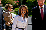 Michelle Bachmann arriving to the debate..Eight republican candidates for US President face off at a debate held at the Ronald Reagan Library. The debate was sponsored by NBC News and POLITICO, and was moderated by Brian Williams, anchor of NBC Nightly News.