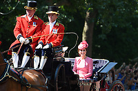 Catherine Duchess of Cambridge<br /> during Trooping the Colour on The Mall, London. <br /> <br /> <br /> &copy;Ash Knotek  D3283  17/06/2017