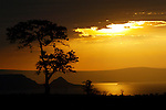 East African Rift Valley - ETHIOPIA - 15 APRIL 2004 -- Sunset in the East African Rift Valley with lake Shala in the background. --PHOTO: JUHA ROININEN / EUP-IMAGES
