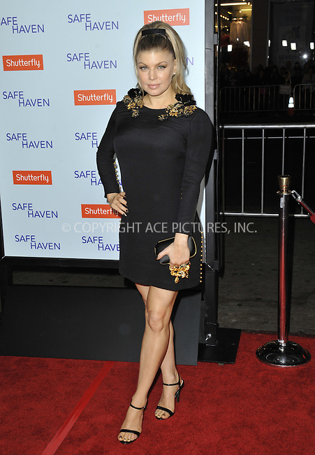 WWW.ACEPIXS.COM....February 5 2013, LA....Fergie arriving at the 'Safe Haven' - Los Angeles Premiere at TCL Chinese Theatre on February 5, 2013 in Hollywood, California.....By Line: Peter West/ACE Pictures......ACE Pictures, Inc...tel: 646 769 0430..Email: info@acepixs.com..www.acepixs.com
