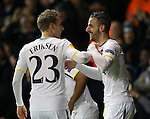 Tottenham's Roberto Soldado celebrates scoring his sides opening goal<br /> <br /> Europa League - Tottenham Hotspur  vs Fiorentina  - White Hart Lane - England - 19th February 2015 - Picture David Klein/Sportimage
