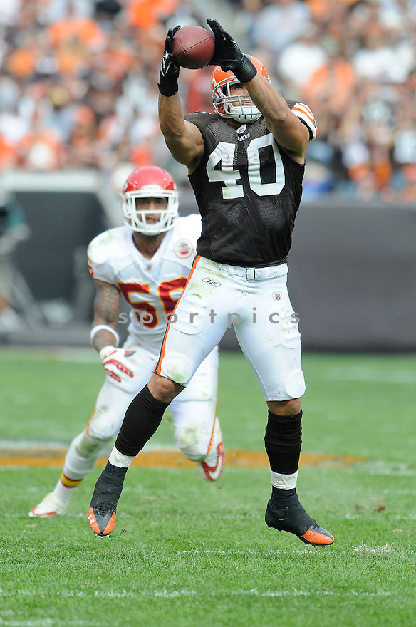 PEYTON HILLIS, of the Cleveland Browns, in action during the Browns game against the Kansas City Chiefs on September 19, 2010 in Cleveland, Ohio...Chiefs win 16-14..SportPics
