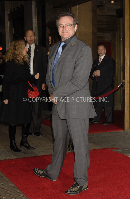 WWW.ACEPIXS.COM . . . . ....December 7, 2007, New York City....Robin Williams attends the NY Film Critics Awards.....Please byline: KRISTIN CALLAHAN - ACEPIXS.COM.. . . . . . ..Ace Pictures, Inc:  ..(212) 243-8787 or (646) 679 0430..e-mail: picturedesk@acepixs.com..web: http://www.acepixs.com