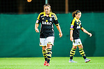 Solna 2015-08-31 Fotboll Damallsvenskan AIK - Eskilstuna United :  <br /> AIK:s Filippa Angeldahl deppar under matchen mellan AIK och Eskilstuna United <br /> (Foto: Kenta J&ouml;nsson) Nyckelord:  Damallsvenskan Allsvenskan Dam Damer Damfotboll Skytteholm Skytteholms IP AIK Gnaget Eskilstuna United depp besviken besvikelse sorg ledsen deppig nedst&auml;md uppgiven sad disappointment disappointed dejected