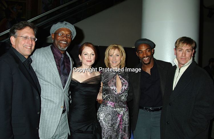 "Joe Roth, Samuel L Jackson, Julianne Moore, Edie Falco, Anthony Mackie and Ron Eldard ..at The World Premiere of ""Freedomland"" on February 13, 2006 at The Loews Lincoln Square Theatre. ..Photo by Robin Platzer, Twin Images"
