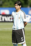 06 July 2007: Argentina's Ever Banega, pregame. Argentina's Under-20 Men's National Team defeated North Korea's Under-20 Men's National Team 1-0 in a Group E opening round match at Frank Clair Stadium in Ottawa, Ontario, Canada during the FIFA U-20 World Cup Canada 2007 tournament.