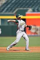 Oakland Athletics Josh Vidales (21) during an Instructional League game against the Arizona Diamondbacks on October 15, 2016 at Chase Field in Phoenix, Arizona.  (Mike Janes/Four Seam Images)