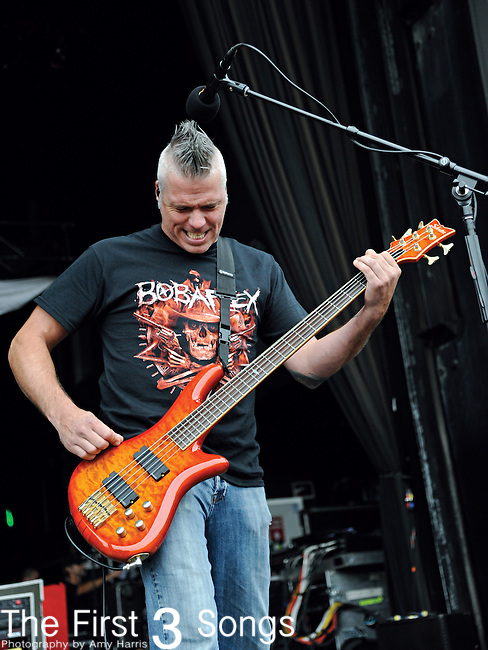Mitch James of Crossfade performs during the Rock Allegiance Tour at Lifestyle Communities Pavilion in Columbus, Ohio on September 14, 2011.