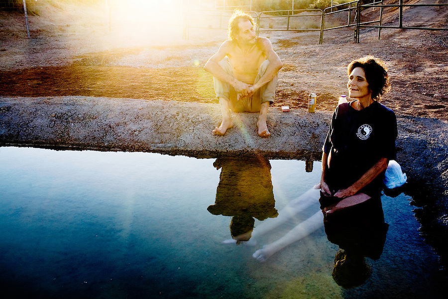 "Following her last wishes, Jerry takes Darla down to a watering hole near the irrigation canals so that she can sit in the water. She said, ""I love the water, this is what I have been waiting for."" Jerry added, ""I just want to make her last days here peaceful and happy."" ."