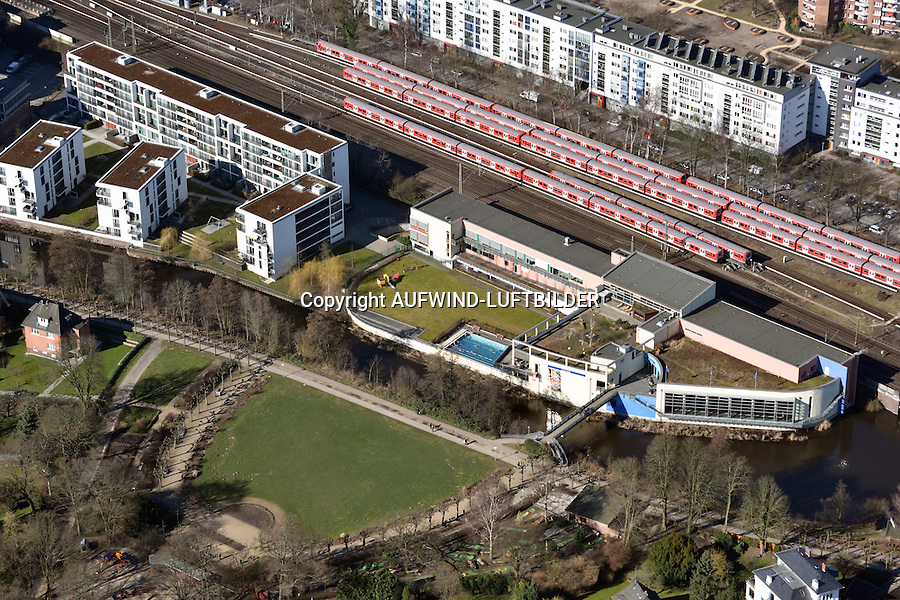 Billebad in Bergedorf: EUROPA, DEUTSCHLAND, HAMBURG, BERGEDORF,(EUROPE, GERMANY), 08.03.2015: Billebad in Bergedorf