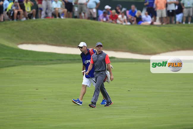 Rory MCILROY (NIR) walks to the 7th green during Thursday's Round 1 of the 2014 PGA Championship held at the Valhalla Club, Louisville, Kentucky.: Picture Eoin Clarke, www.golffile.ie: 7th August 2014