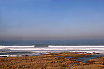 Africa, Morocco, Casablanca. The Atlantic Ocean waves roll in to the Moroccan coast near Casablanca.