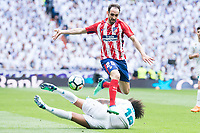 Real Madrid Marcelo and Atletico de Madrid Juanfran Torres during La Liga match between Real Madrid and Atletico de Madrid at Santiago Bernabeu Stadium in Madrid, Spain. April 08, 2018. (ALTERPHOTOS/Borja B.Hojas) /NortePhoto NORTEPHOTOMEXICO